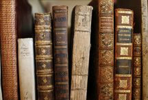 vintage books / There's nothing like the look or smell of an old book - the worn leather covers, the softly aged pages, discoloured or brittle.  Vintage books are a beautiful thing to have around you.