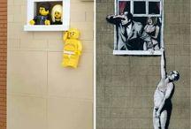 Banksy Lego Art