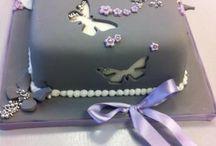 bolos com borboletas
