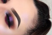 Purple eye make up