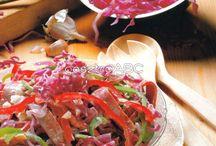 saláták, egészséges ételek