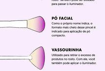 Função dos pincéis de maquiagem.