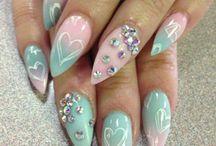 Nail art • / Nail art with polish & gel