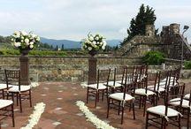 Vincigliata Castle wedding in Tuscany / wedding decor