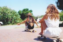 Skater girl / Skating, Longboarding, Skater girls, longboard girls