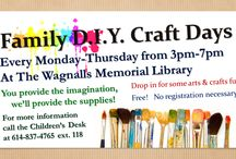 Arts & Crafts at The Library / Fun activities and crafts books for adults and children.