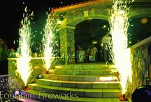 Fountain Fireworks for Weddings in Greece / The most well known alternative for a spectacular #Wedding #Entrance, #Cake #Cutting of #1st #Dance   #Pyroflash #Fireworks #Effects #WeddingEffects #FireworksinGreece