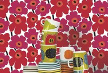 Magnificent Marimekko / Marimekko is an iconic Scandinavian brand know for their bold, original and vibrant fabric patterns that transpose perfectly into wallpaper with clean lines and bright colors.