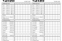 Yahtzee Score Sheets / Yahtzee / Yatzie Score Sheets that you can Print and Share for Free