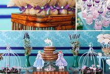Ariel & Cinderela / Festa com inspiração de Ariel e Cinderela para os 3 anos da Manuela.
