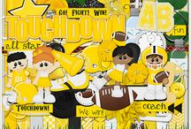 {Football} Digital Scrapbook Kits by Wimpychompers Creations