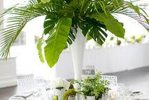 Tropical wedding flowers / styled with tropical flowers and colours  fantastic wedding theme .