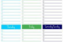 Planners: Goals, weekly, monthly, melas,etc.