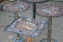 újrahasznosított anyagokból készült dolgok