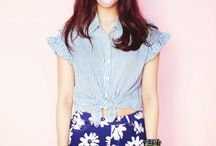 park shin hye red hair