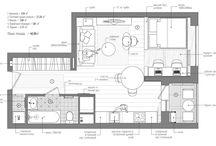 studio and 1 bedroom apartment floor plan