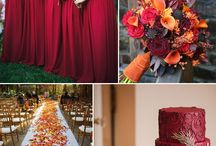 autumn wedding theme boards