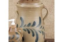 P O T T E R Y / A slab of clay turned into something so beautiful    =                    Stoneware..... Salt Glazed, Redware  and Yellowware.