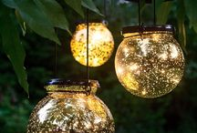 Solar lights and Garden
