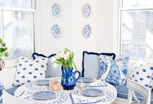 Blue and White / Blue and white is such a beautiful color combination, whether in porcelain, or room decor.