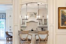 White Kitchens Inspiration Board / White kitchens are very popular right now.  Walker Woodoworking does a great job making custom cabinets for your home.