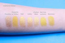Swatches of Facepaint / Different swatches of facepaint we provide in our department
