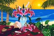 Tropical Art by Cindy Wider