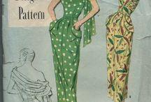 Vintage Sewing Patterns & Illustration