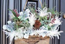 Winter Wreaths and Front Door Decor