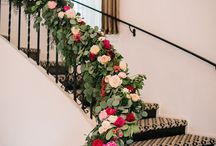 Staircase Decorated at Home for Wedding Day