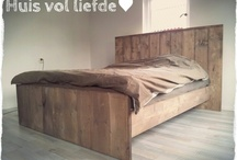 ♥ Steigerhout - Bedden