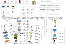 Montessori Step 1 Language Series / A great selection of printable language materials with 3 letter phonetic words. / by Montessori Print Shop