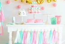 Mint, Gold & Pink Parties