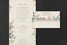 Winter Wedding / Warm up with these lovely winter designs in wedding stationery. Stationery designs available at Persnickety Invitation Studio.