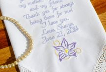 Gift For Aunt Embroidered Wedding Handkerchiefs