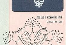 Crochet snowflakes
