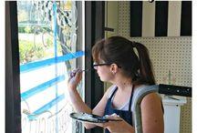 Lettering | Window + Mirror