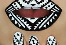 lip and nail makeup