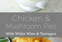 chicken and mushroom pies