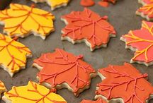Fall icing decorated cookies and cookie cutters