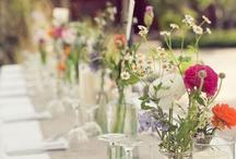 Blommor/dukning bröllop