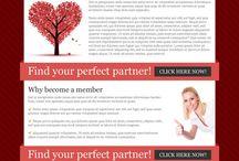 dating landing page design