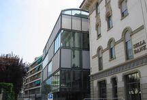 FDA - banca sella - lugano - CH / #architecture #interiordesign #design #interior #minimal #italianstyle #italiandesign #federicodelrossoarchitects #italianarchitects #interiorarchitecture #studioarchitettura   #concrete #metal #facade