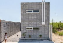Concrete block houses
