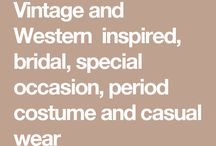 Kostymer western klær