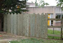 palissade bois verticale