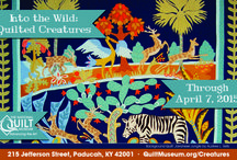 Into the Wild / Into the Wild: Quilted Creatures will be at the Museum through April 7, 2015. The exhibit features quilts with animals of all kinds.