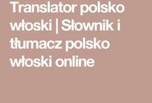 SŁOWNIK POLSKO/WŁOSKI