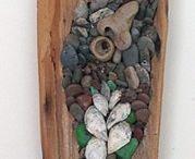 Mosaic on wood