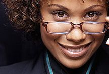 GLAMOROUS GLASSES / Some women look fabulous in glasses! Natural beauty shines through.